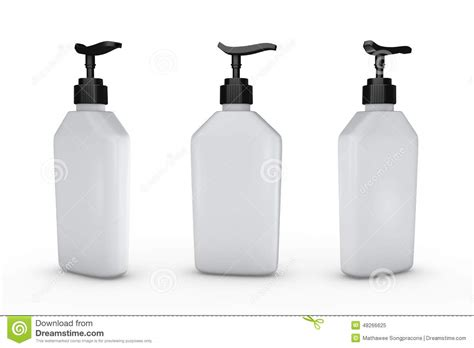 White Bottle With Dispenser Pump, Clipping Path Included