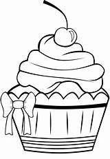 Cupcake Coloring Cute Pages Cookie Pretty Desenho Salvo Coloringkidz sketch template