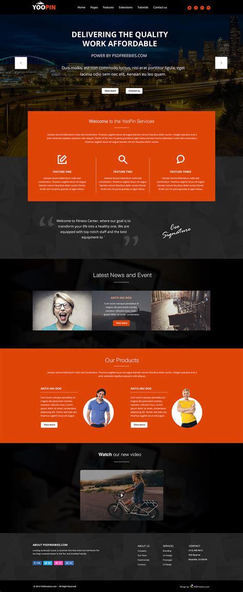yoopin multipurpose modern website template  psd