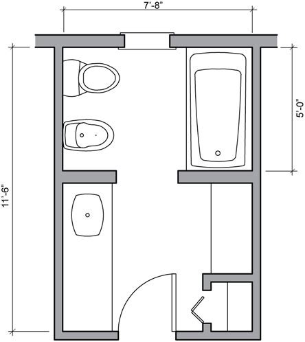 Design Bathroom Floor Plan For Well Design Small Bathroom