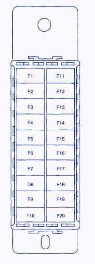 2001 Daewoo Leganza Fuse Box Diagram by Daewoo Lanos Se Manual Passenger 2001 Fuse Box Block