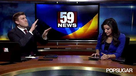news anchor    commercial break