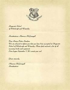 Harry Potter Letter Template remendation letter template