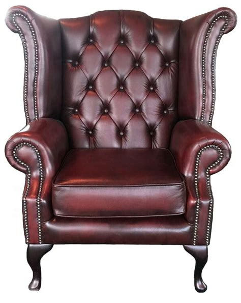 Chesterfield Armchair Uk by Chesterfield High Back Armchair Genuine Leather