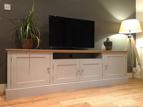 Sideboard Tv by New Solid Pine Oak 7ft Tv Unit Stand Cabinet Painted