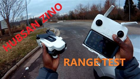 hubsan zino hs review  range test youtube