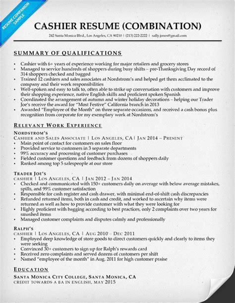 Cashier Resume by Cashier Resume Sle Resume Companion