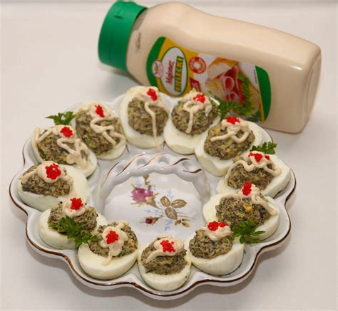 jajka faszerowane pieczarkami smacznego farsz smaczneprzepisy