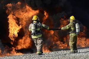Firefighters In Action 3 Photograph by Bob Christopher
