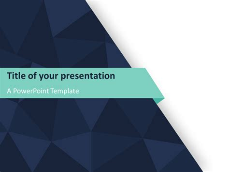 Free Themed Powerpoint Templates by Abstract Triangle Pattern Powerpoint Template