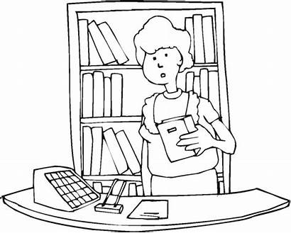 Library Coloring Pages Education