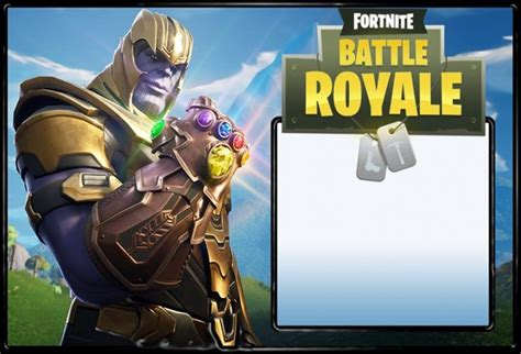 fortnite invitation templates  epic party awesome