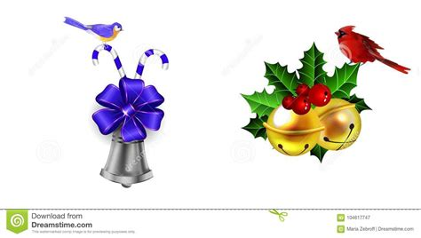 Christmas Decoration With Bow Stock Vector