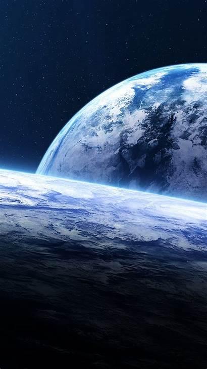 Horizon Planet Surface Wallpapers Stars Earth Galaxy