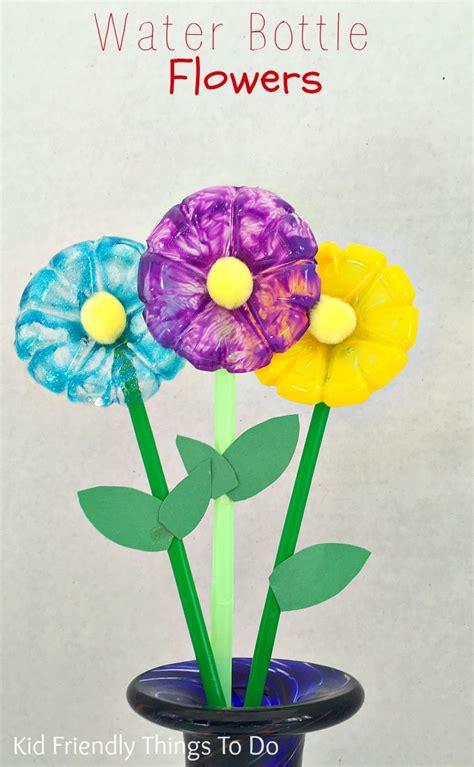 water bottle flowers craft  kids kid friendly