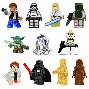 Lego clipart lego star wars - Pencil and in color lego ...