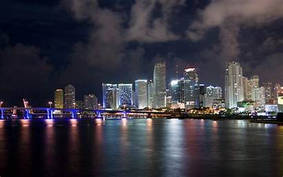 Miami Skyline Houston Night Wallpapers Backgrounds Led