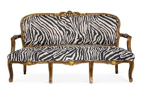 Zebra Settee by Zebra Settee Home Sweet Home Settee Sofa Leather
