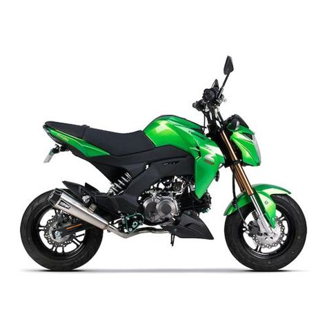 Z125 Pro Image by Two Brothers Comp Exhaust System Kawasaki Z125 Pro 2017