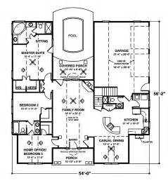 home plans one story crandall cliff one story home plan 013d 0130 house plans