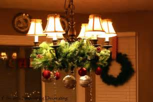christmas decorate chandelier