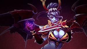 Dota 2 Queen Of Pain Bloodthorn Petals Set Desktop ...