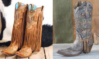 wedding gift kl corral cowboy boots with a touch of fringe