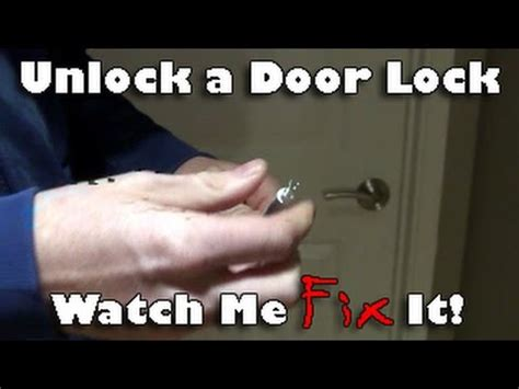 26452 how to unlock a bedroom door unlock lever handle interior door knob from outside for