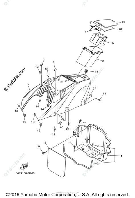 Waverunner Engine Diagram by Yamaha Waverunner 2016 Oem Parts Diagram For Engine Hatch