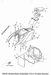 Yamaha Waverunner 2016 Oem Parts Diagram For Engine Hatch 1