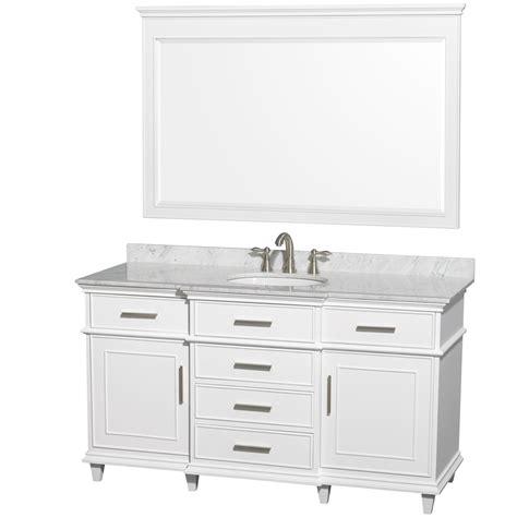 60 inch bathroom vanity top single sink wyndham collection wcv171760swhcmunrm56 berkeley single