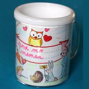 Mug Fete Des Meres : mug personnalis avec des coloriages un cadeau de f te des m res t te modeler ~ Teatrodelosmanantiales.com Idées de Décoration