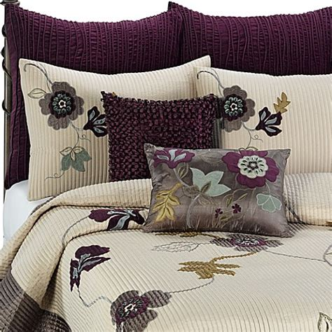 anthology bedding anthology quilt in plum vine bed bath beyond