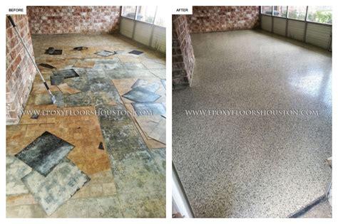 Metallic Epoxy Floor Houston by Epoxy Garage Before And After