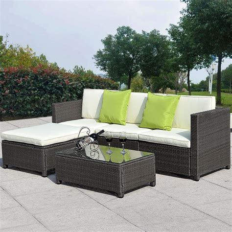 Outdoor Patio Sofa Set by Details About 5pc Outdoor Patio Sofa Set Sectional