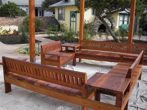 Wood Patio Furniture by Outdoor Redwood Patio Furniture Wood Projects