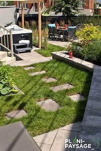 jardin en ville amenagement exterieur a montreal plani With photos amenagement jardin paysager 11 amenagement paysager amenagement exterieur enrobe