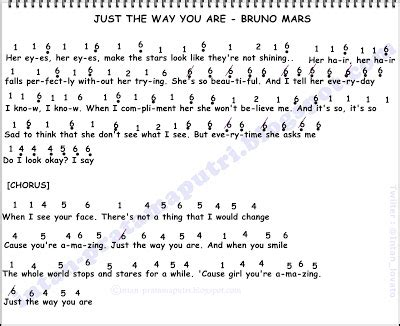 not angka piano a thousand years bruno mars just the way you are not angka lagu terbaru