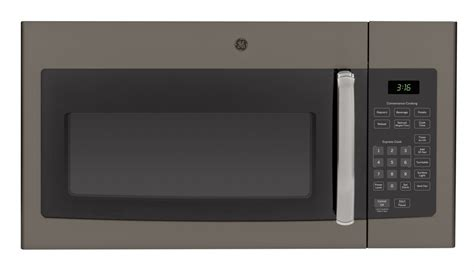 ge microwave with vent fan ge jvm3160efes 1 6 cu ft over the range microwave slate
