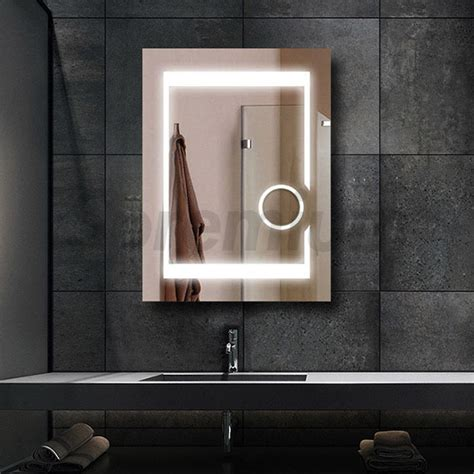 Bathroom Mirrors With Built In Lights by Led Bathroom Magnifying Mirror Wall Mounted Light Up