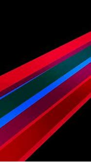 3D Abstract Lines, Colorful Lines in the Middle of Black ...