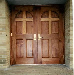 choosing wood and finish for church doors With church entry doors