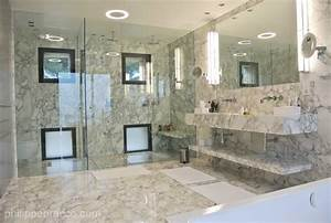 salle de bain et marbre blanc prestige architecture With salle de bain provencale
