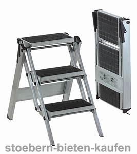 Leiter 3 Stufen : wak little jumbo compact 3 stufen trittleiter mit kunststoff belag 310 c stoebern bieten kaufen ~ Markanthonyermac.com Haus und Dekorationen