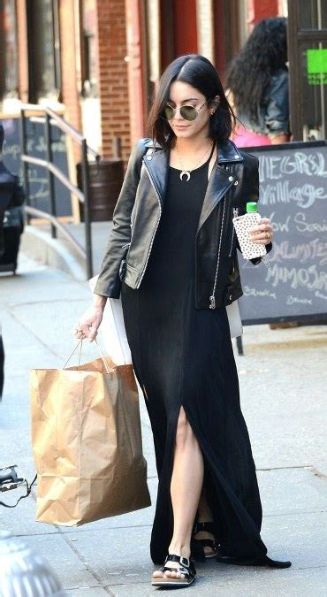 model jaket kulit artis cantik hollywood ide model busana