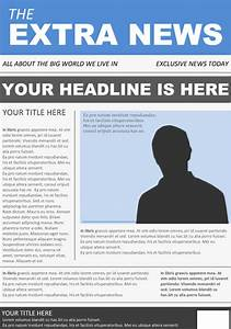 12 newspaper front page templates free sample example With newspaper header template