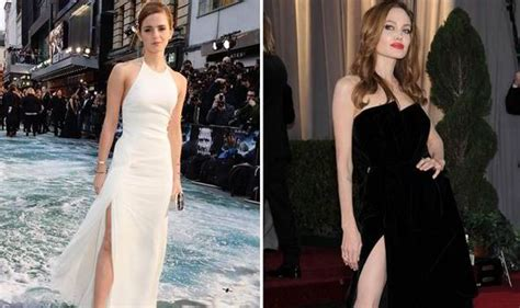 Emma Watson Pulls Angelina Jolie Thigh High Dress