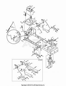 Mtd 13ax795s004  2011  Parts Diagram For Frame  U0026 Pto Lift
