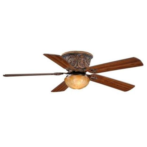 home depot flush mount ceiling fan aireryder corazon 52 in aged bronze flushmount ceiling