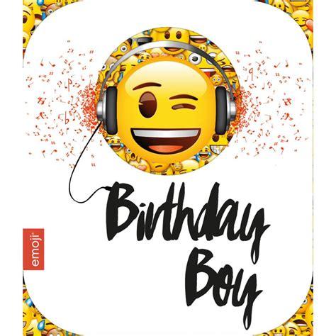 purple bags smiley birthday boy emoji birthday card 243901